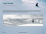 Snowboarder in Fine White Powder Snow Presentation slide 10