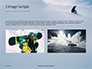 Snowboarder in Fine White Powder Snow Presentation slide 11