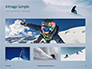 Snowboarder in Fine White Powder Snow Presentation slide 13