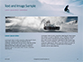 Snowboarder in Fine White Powder Snow Presentation slide 14
