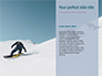 Snowboarder in Fine White Powder Snow Presentation slide 9