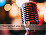 Old Fashion Microphone Against Bokeh Background Presentation slide 1