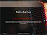 Old Fashion Microphone Against Bokeh Background Presentation slide 3