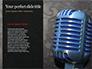 Old Fashion Microphone Against Bokeh Background Presentation slide 9