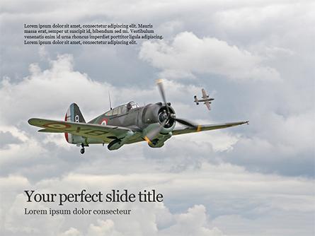 Curtiss P-36 Hawk Flew in Air Presentation Presentation Template, Master Slide
