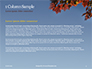 Maple Tree Branch in Autumn against Blue Sky Presentation slide 4