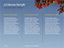 Maple Tree Branch in Autumn against Blue Sky Presentation slide 6