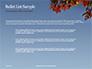 Maple Tree Branch in Autumn against Blue Sky Presentation slide 7