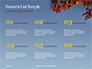 Maple Tree Branch in Autumn against Blue Sky Presentation slide 8
