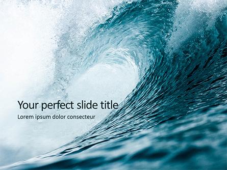Blue Ocean Wave Presentation Presentation Template, Master Slide