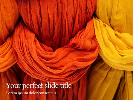 Dyed Cotton Fabric Presentation Presentation Template, Master Slide