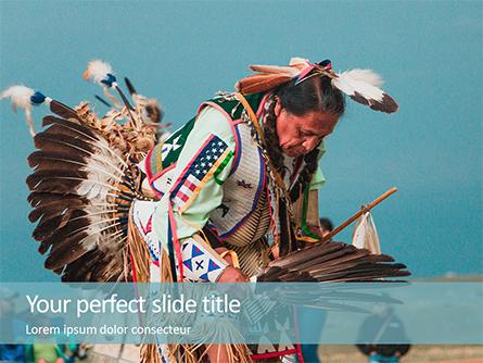 Native American Man Presentation Presentation Template, Master Slide