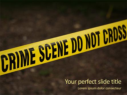 Police Line Tape Presentation Presentation Template, Master Slide