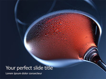Glass with Red Wine Presentation Presentation Template, Master Slide