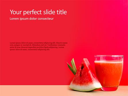 Watermelon Juice Presentation Presentation Template, Master Slide