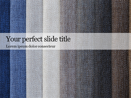 Layers of Different Fabrics with Different Colors Presentation Presentation Template, Master Slide