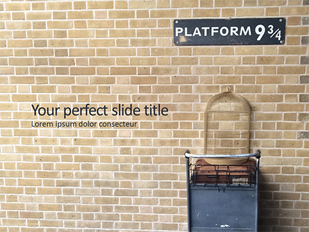 Platform Nine and Three Quarters Presentation Presentation Template, Master Slide