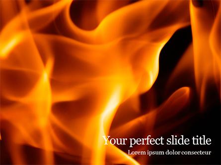 Fire Flames Presentation Presentation Template, Master Slide