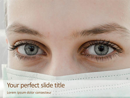 Portrait of a Pretty Young Female Nurse Presentation Presentation Template, Master Slide
