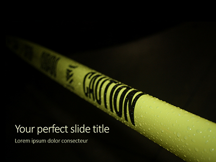 Caution Tape in Darkness Presentation Presentation Template, Master Slide