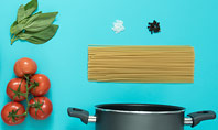 Cooking Pot and Frying Pan with Tomatoes Presentation Presentation Template
