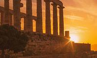Ruins of Ancient Greek Temple of Poseidon Presentation Presentation Template