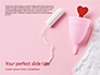 Sanitary Pad Menstrual Cup Tampon and Red Heart Presentation slide 1