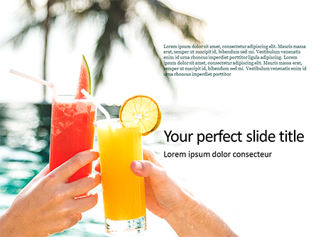 Cheers with Fruit Juice Presentation Presentation Template, Master Slide