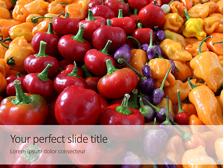 Colorful Bell Sweet Pepper Presentation Presentation Template, Master Slide