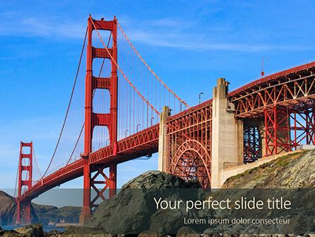 Golden Gate Bridge Presentation Presentation Template, Master Slide