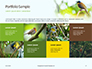 The Blue-Crowned Laughingthrush Among Tree Leaves Presentation slide 17