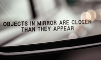 Objects in Mirror are Closer Than They Appear Presentation Presentation Template