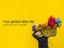 Street Vendor Carries a Basket with Souvenirs Presentation slide 1