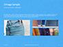 Jeans Texture Background Presentation slide 12