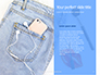 Jeans Texture Background Presentation slide 9