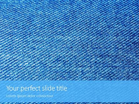 Jeans Texture Background Presentation Presentation Template, Master Slide