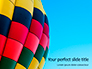 Colorful Hot Air Balloon in Blue Sky Presentation slide 1