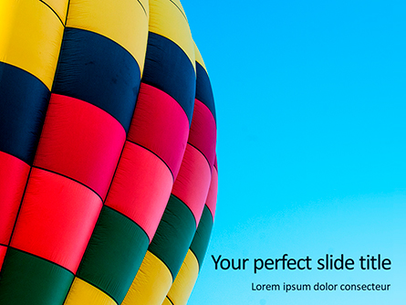 Colorful Hot Air Balloon in Blue Sky Presentation Presentation Template, Master Slide