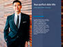 Businessman in Suit Against Wooden Wall Presentation slide 9