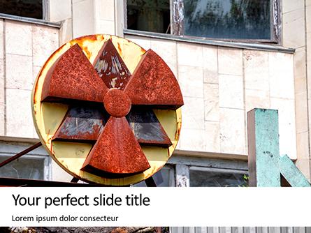 Radioactive Sign on Building in Chernobyl Presentation Presentation Template, Master Slide