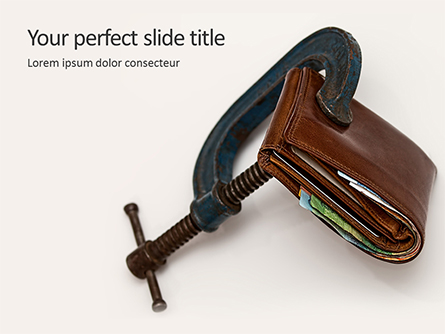 Tight Money Concept Presentation Presentation Template, Master Slide