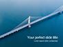 Aerial View of Suspension Bridge Presentation slide 1