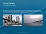 Aerial View of Suspension Bridge Presentation slide 11