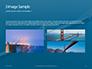 Aerial View of Suspension Bridge Presentation slide 12