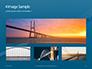 Aerial View of Suspension Bridge Presentation slide 13