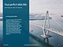 Aerial View of Suspension Bridge Presentation slide 9