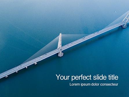 Aerial View of Suspension Bridge Presentation Presentation Template, Master Slide
