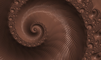 Abstract Melted Chocolate Swirl Background Presentation Presentation Template