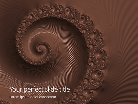 Abstract Melted Chocolate Swirl Background Presentation Presentation Template, Master Slide