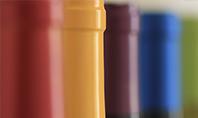 Wine Bottles with Colored Shrink Caps Presentation Presentation Template
